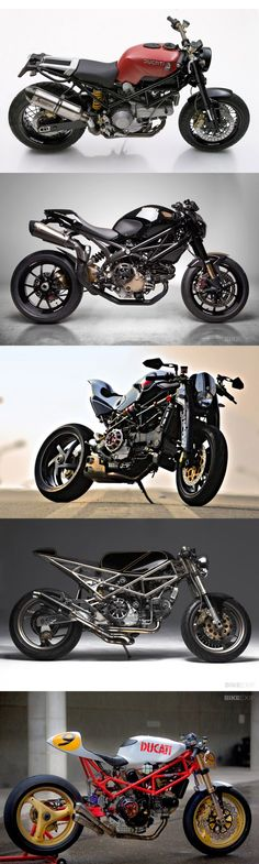 An incredible Ducati Monsters have rolled off the production line since Here's our pick of the most exciting Monster-based customs. Concept Motorcycles, Vintage Motorcycles, Custom Motorcycles, Custom Bikes, Cars And Motorcycles, Ducati Monster Custom, Moto Ducati, Push Bikes, Street Bikes