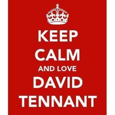 Keep Calm And Love David Tennant 5cm x 3.5cm Keyring