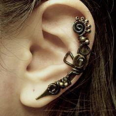 Poison Steam Ear Cuff by Jynxsbox on Etsy