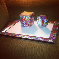 DIY duct tape crafts! So easy, can do just about anything! I made a frame and a storage box!