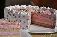 Tort cu crema de iaurt si zmeura Unicorn Birthday, Birthday Cake, Romanian Food, Home Food, Bread Baking, Vanilla Cake, Caramel, Recipies, Cheesecake