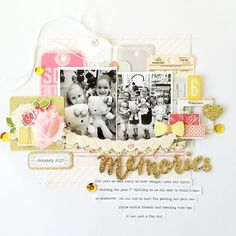 Another layout as seen in #jotmagazine Issue 10 Party Time Gallery. This one was about what we did for Madi's 6th birthday. #scrapbooking #jotgirl