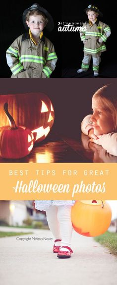 want better photos of your kids this Halloween? find the best easy photography tips for getting pictures of your kids, their costumes, their pumpkins, and more!