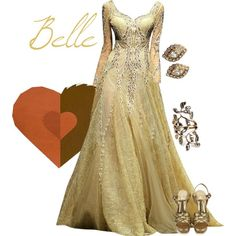 """Beauty and the Beast - """"Belle"""" formal gown by alyssa-eatinger on Polyvore"""