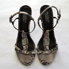 FINAL SALEFranco Sarto Snake Print Sandals Franco Sarto Snake Print Sandals with a small wedge. Worn once and in great conditions. Franco Sarto Shoes Sandals