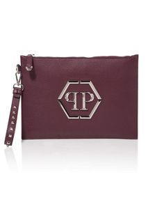 "PHILIPP PLEIN Minudier ""Poyel"". #philippplein #bags #leather #clutch #lining #lace #hand bags #"