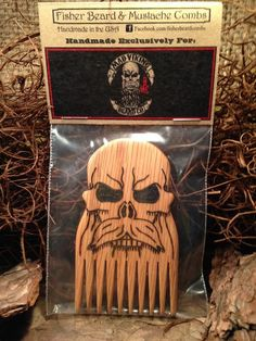 Mad Viking Beard Co Logo Wood Comb, finely hand crafted!Free shipping to the United States!