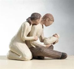 New Life figurine by Willow Tree. Inspired by the awe and amazement that comes with the first glimpse of something so precious and new. #willowtree #children #parenting @demdaco