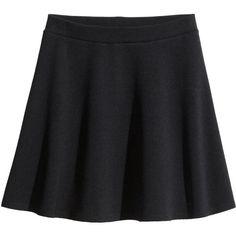 H&M Flared skirt ($3.86) ❤ liked on Polyvore featuring skirts, mini skirts, bottoms, saias, black, short skater skirt, short skirts, elastic waist circle skirt, h&m mini skirt and short flared skirt