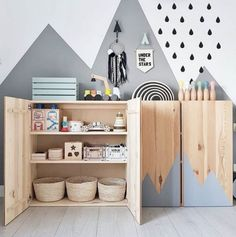 New Free of Charge Mommo design: 10 ways to use IKEA IVAR in kids & # ZI . Style An Ikea children's room continues to fascinate the children, since they are offered a lot more th Baby Room Design, Baby Room Decor, Room Baby, Ikea Baby Room, Nursery Design, Ivar Ikea Hack, Ikea Hacks, Ikea Trofast, Baby Zimmer Ikea