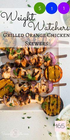 Ww Recipes, Summer Recipes, Dinner Recipes, Cooking Recipes, Healthy Recipes, Green Chicken Recipe, Orange Chicken, Weight Watchers Chicken, Weight Watchers Meals
