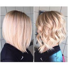 Dark roots, angled bob, warm blonde! @hairbykatlin #newmexico @matrix Thanks for the hashtag! #angelofcolour