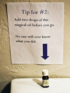 The Oil Magic Trick That Hides Number Two...I was laughing out loud so hard while reading this blog.