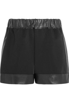 Givenchy Shorts in neoprene with leather trims | NET-A-PORTER