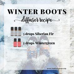 Winter Boots Diffuser Blend Recipe Essential Oil Diffuser, Essential Oil Blends, Essential Oils, Diffuser Recipes, Diffuser Blends, Doterra, Winter Boots, Diy Beauty, Boston