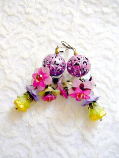 Earrings I love this Bouquet by irinacarmen on Etsy, $25.00