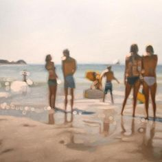 Summer Relations by South African artist Philip Barlow. Realistic, but not… like an old, out of focus photograph.