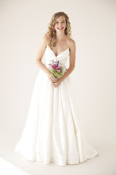 Twirling is a must in this dreamy wedding dress...plus it has pockets! gown - Charming by Astrid & Mercedes