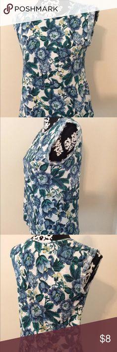 Loft Floral Knit Tank ••••Blue, green, yellow•••• Size S 🌻 LOFT Tops