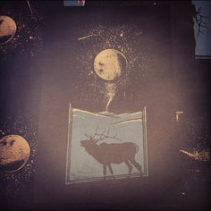 Cantuck Moon. Edition of 36 available! #halftoneshow #screen-print #screenprinting #art #artprint #zacstout #moon #night #elk #kentucky #nature - @halftoneshow- #webstagram