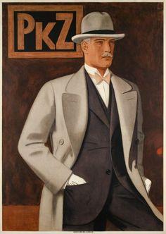 1927 PKZ, Men clothes vintage fashion advert poster