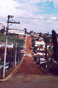 Street of Guarulhos in 1971 (Brazil)