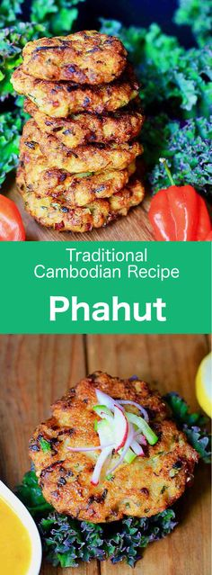 Pahut is a traditional Cambodian fish cake that is typically prepared with fish pounded and mixed with kroeung in a mortar and pestle. Ingredients 1 l. Fish Recipes, Asian Recipes, Ethnic Recipes, Cambodian Food, Cambodian Recipes, Healthy Eating Recipes, Cooking Recipes, Fish Cutlets, Viet Food
