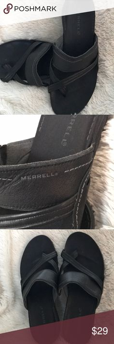 Merrell  Leather Sandals Merrell black leather sandals - good condition! Merrell Shoes Sandals