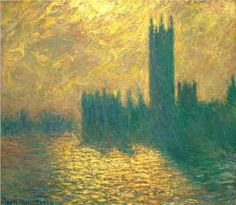 Claude Monet: Houses of Parliament (1904). Maybe the best Monet's painting of this subject?