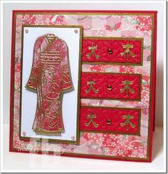 handmade card ... Kimono card created by Frances Byrne ... like the layout ...