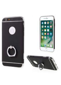 Coque iPhone 6s 6 Ring Support Doigt Intégré - Noir