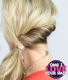 Oh My God I Love Your Hair: Rolled Ponytail