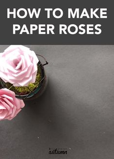paper flowers Learn how to make stunning paper roses with this free printable paper rose template! Step by step instructions for making paper roses. How To Make Paper Flowers, Tissue Paper Flowers, Diy Flowers, Crafts With Flowers, Diy Paper Roses, Paper Flowers Roses, How To Make Rose, Book Flowers, Paper Flower Wall