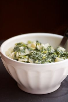 Creamed Turnips with Their Greens