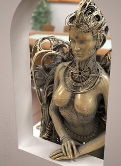 "Receive terrific ideas on ""metal art welded"". They are accessible for you on our internet site. Dark Fantasy Art, Dark Art, Giger Art, Art Sculpture, Egyptian Art, Tree Art, Erotic Art, Art And Architecture, Figurative Art"