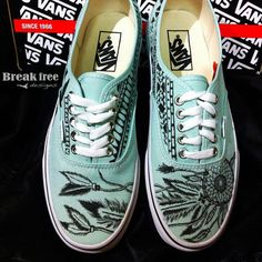 Dreamcatcher- Gossamer Green VANS -Made to Order ($100) ❤ liked on Polyvore featuring shoes, delete, sneakers, vans, aztec print shoes, tribal print shoes, patterned shoes, cocktail shoes and green shoes