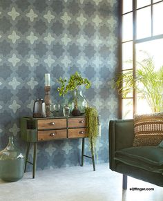 Contemporary Wallpaper, pattern number from the LOUNGE range. How To Hang Wallpaper, Wallpaper Panels, Pattern Wallpaper, Casamance, Office Chair Without Wheels, Latest Wallpapers, Contemporary Wallpaper, Inspirational Wallpapers, Cozy Living Rooms