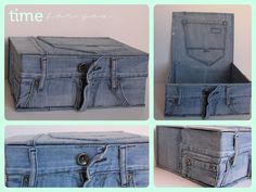 Recycled Jean Trunk!