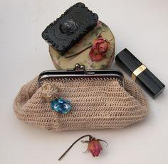 Porte-monnaie au crochet - Style Vintage