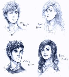The four main characters from the Gone series. Diana shouldn't be smiling. The mother of the gaiaphage SHOULD NOT BE SMILING.