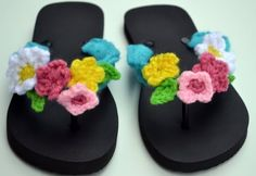 link to pattern for Flowery Flops