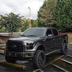 Nice Ford 2017: New blacked out ford...  lifted trucks Check more at http://carsboard.pro/2017/2017/01/08/ford-2017-new-blacked-out-ford-lifted-trucks/