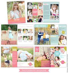 Photography Digital Magazine   Modern Studio   Photoshop templates for photographers by Birdesign