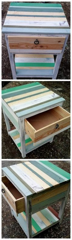 Has any 1 thing been reused more visually, using much more practical use and much more functional application than the . Read Awesome Pallet Furniture Project Ideas On a Buget Diy Home Furniture, Wooden Pallet Furniture, Bedroom Furniture Design, Wooden Pallets, Furniture Projects, Diy Pallet Projects, Diy Wood Projects, Pallet Crates, Vintage Table