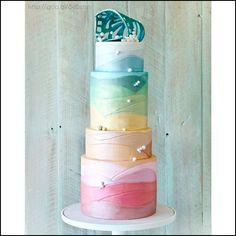 Pastel para boda en tonos #pastel #Cake #Wedding #YUCATANLOVE