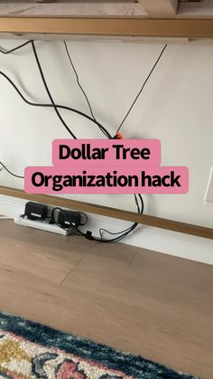 Gold Wire Basket, Wire Baskets, Dollar Tree Organization, Cord Organization, Messy Desk, Organizing Wires, Clean Bedroom, Diy Desk, Desk Accessories