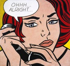 Pop Artist Roy Lichtenstein....looks familiar...