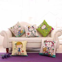 Artfully Designed Cat Cushion Cover