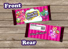 New to PrintzNThings on Etsy: Shopkins Candy Wrapper Hershey Bar Wrapper Party Favor Custom Wrapper Birthday Favor Shoppies Bar Wrapper Printable Instant Download (3.99 USD)