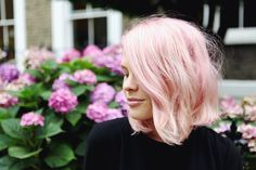 pastel pink long bob http://wethepeoplestyle.com/2013/08/pink/
